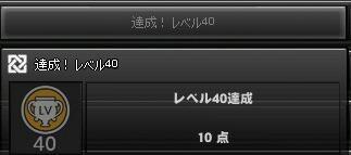 レベル40達成(予定)
