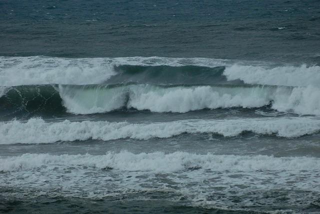 荒れる羽合海岸6