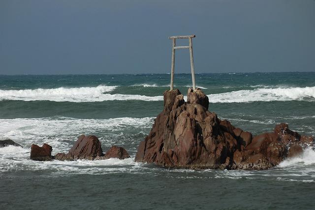 荒れる羽合海岸9
