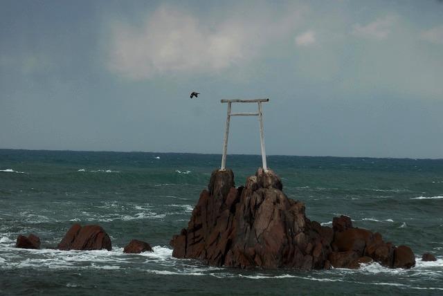 荒れる羽合海岸22