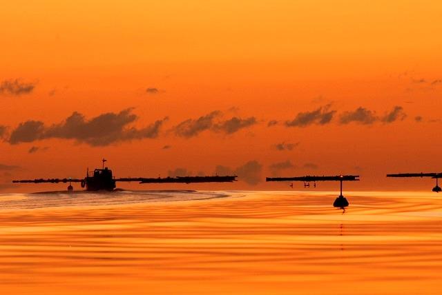 間口港の朝焼け7