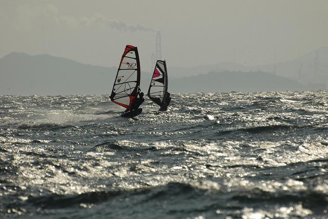 王子ヶ岳のウインドサーフィン1