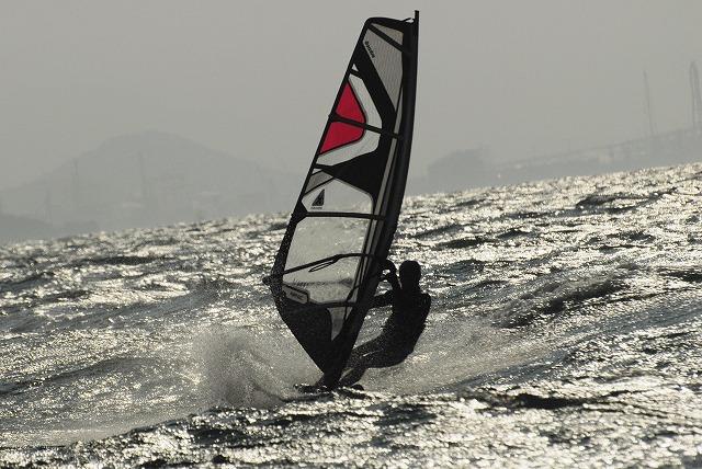 王子ヶ岳のウインドサーフィン2