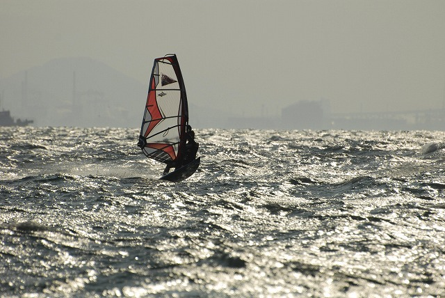王子ヶ岳のウインドサーフィン3