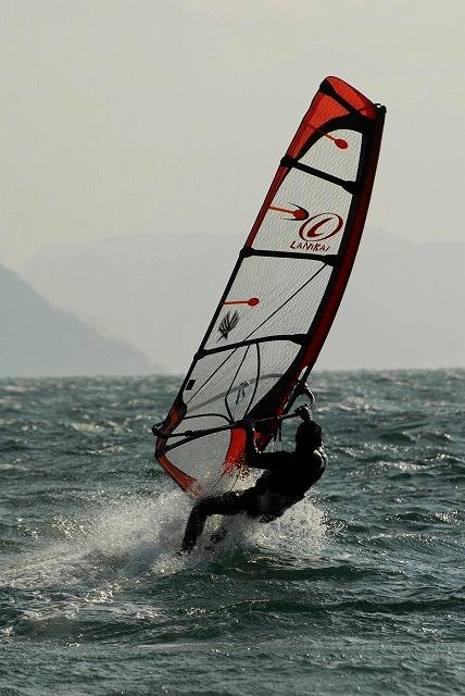 王子ヶ岳のウインドサーフィン5