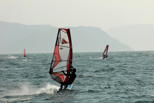 王子ヶ岳のウインドサーフィン6