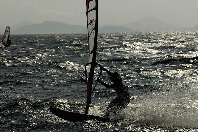 王子ヶ岳のウインドサーフィン9