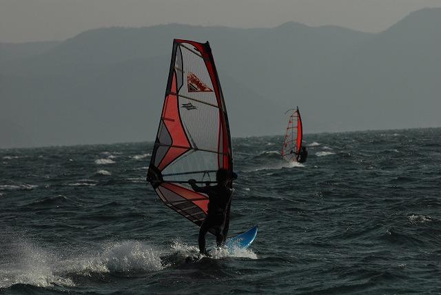 王子ヶ岳のウインドサーフィン10