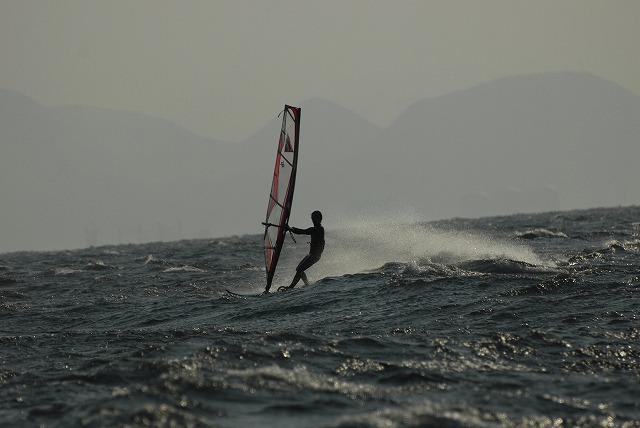 王子ヶ岳のウインドサーフィン11