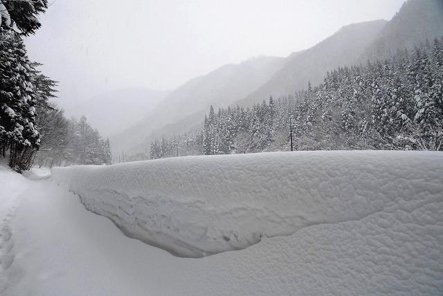岩井滝付近の雪景色5