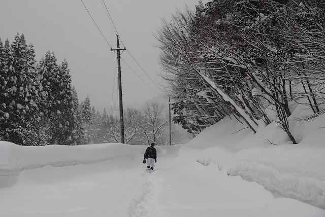 岩井滝付近の雪景色10