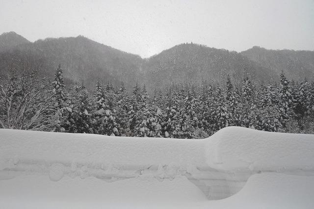 岩井滝付近の雪景色11