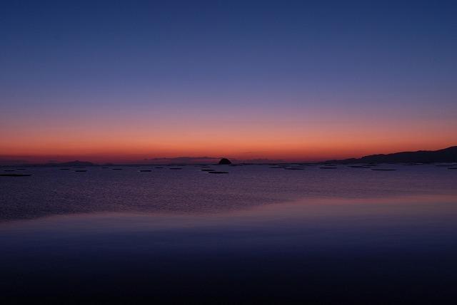 錦海湾の朝焼け1