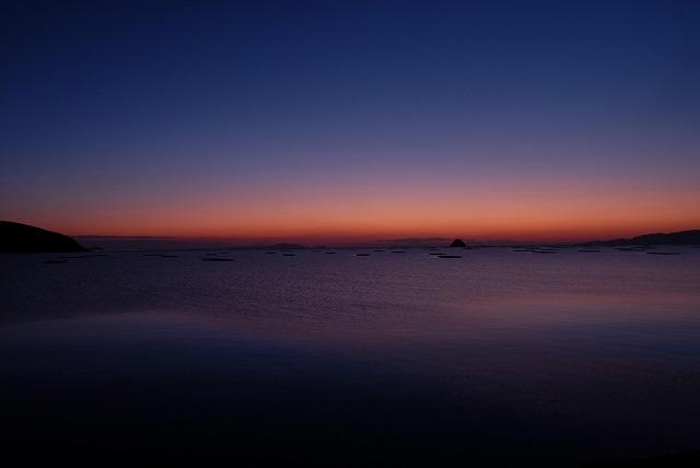 錦海湾の朝焼け3