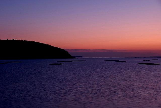 錦海湾の朝焼け4