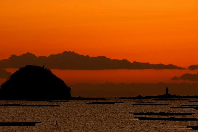 錦海湾の朝焼け5