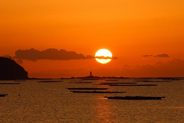 錦海湾の日の出5