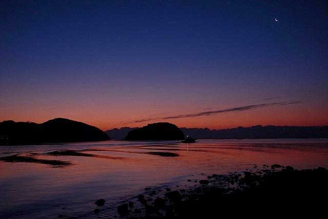 長島の朝焼け2