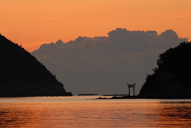 長島の朝焼け4