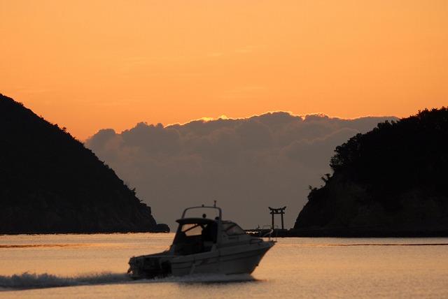 長島の朝焼け6