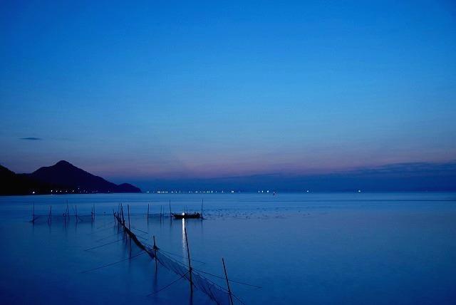 神島の朝焼け1
