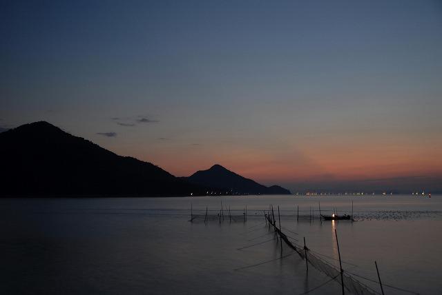 神島の朝焼け2