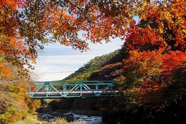 奥津渓の紅葉32