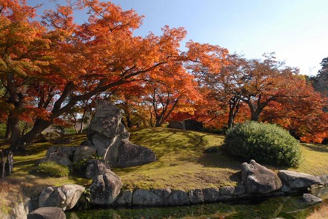 陰陽石と紅葉1