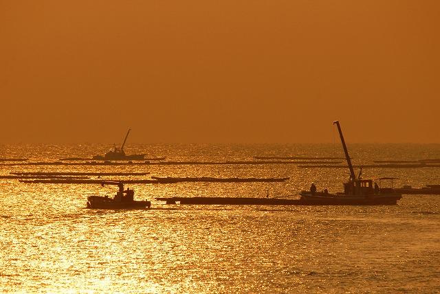 出漁する牡蠣船7