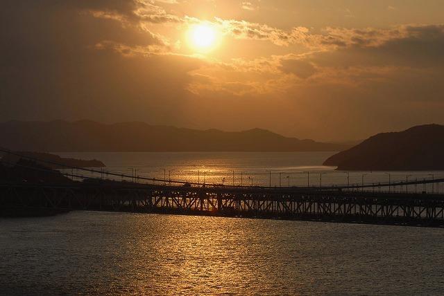 鷲羽山の夕陽1