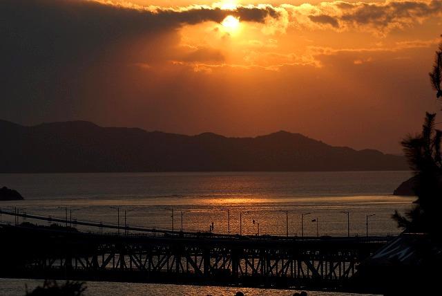 鷲羽山の夕陽2