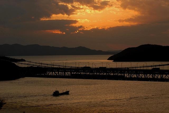 鷲羽山の夕陽3