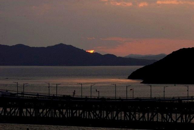 鷲羽山の夕陽4