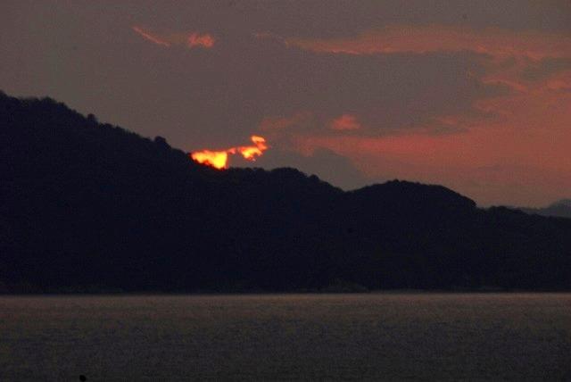 鷲羽山の夕陽