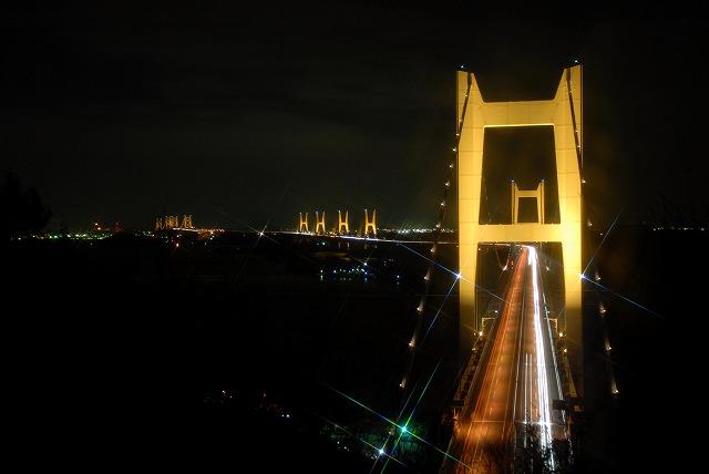 瀬戸大橋のライトアップ1