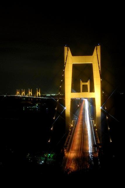 瀬戸大橋のライトアップ2