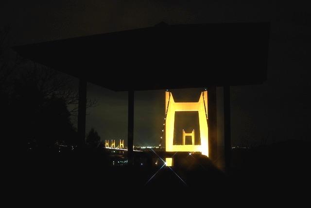 瀬戸大橋のライトアップ4