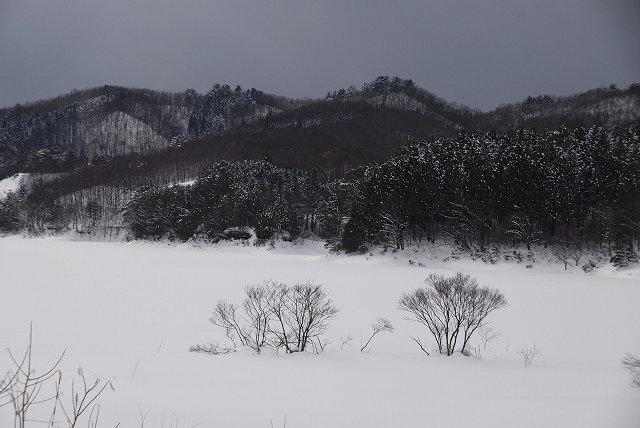 恩原湖の雪景色2