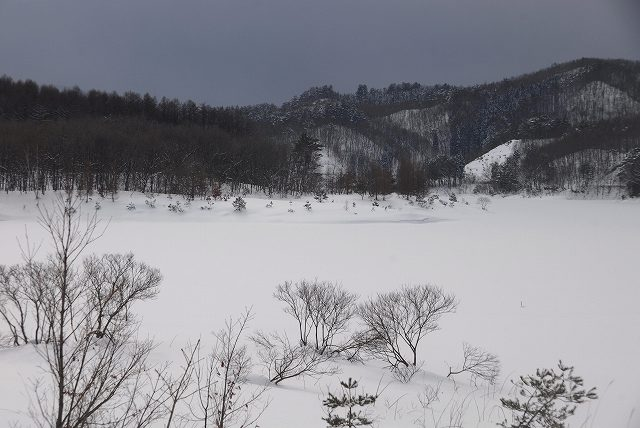 恩原湖の雪景色3