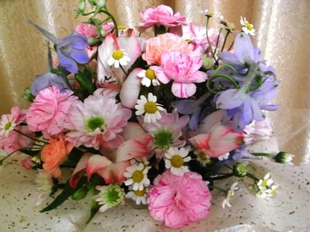 受け付けの花1