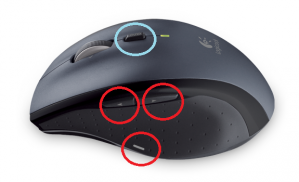 M705rの各種ボタンがある場所