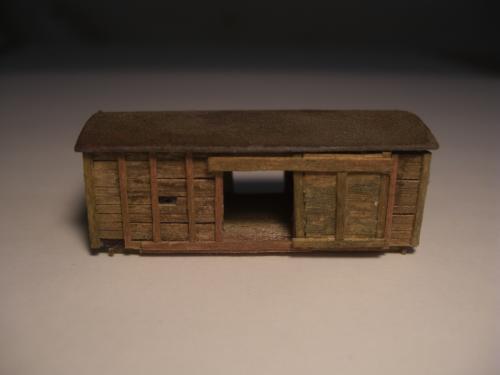 Nゲージ シナリー 木製貨物車の納屋 4