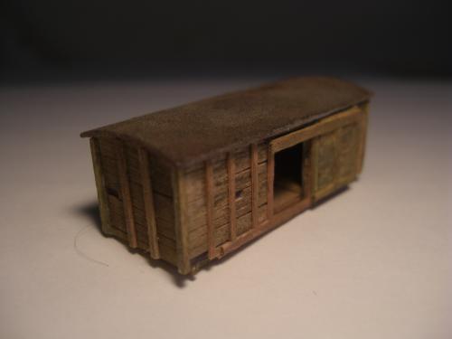 Nゲージ シナリー 木製貨物車の納屋 1
