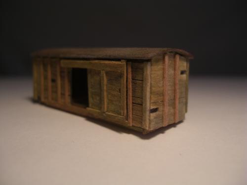 Nゲージ シナリー 木製貨物車の納屋 2