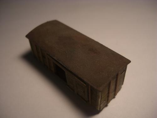 Nゲージ シナリー 木製貨物車の納屋 3