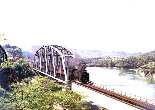 落合鉄橋のD51003