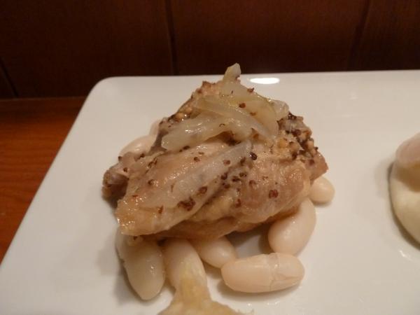 鶏モモ肉の粒マスタード煮込みと白いんげん豆7
