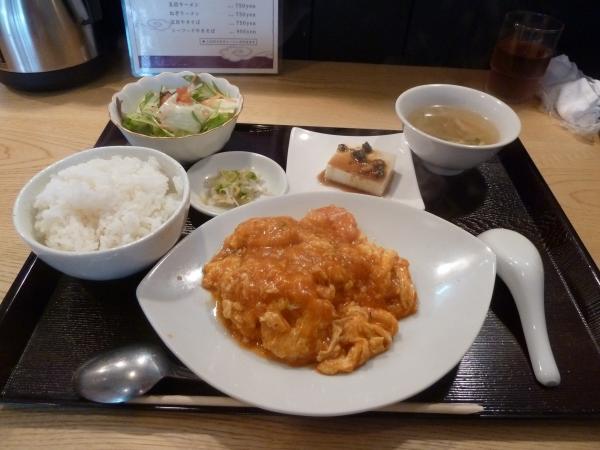 エビチリ定食4