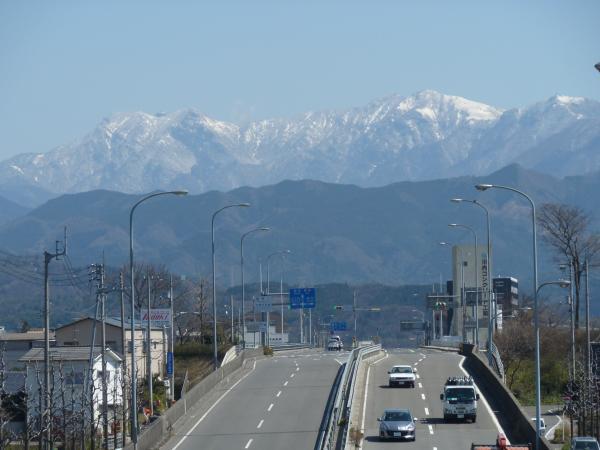 33号線と石鎚山2