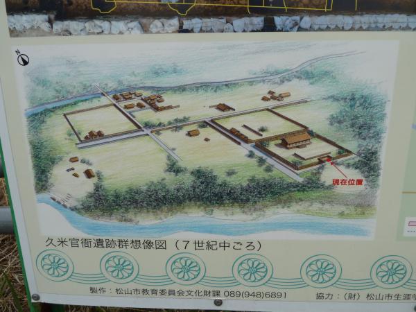 久米官衙遺構想像図7世紀